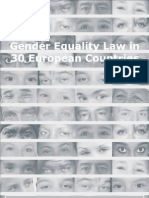 Gender Equality  Law in30 European Countries