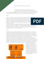 Pasos para la creación de archivos de fuente