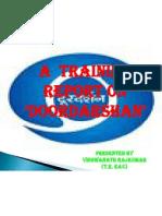 Slide Presentation for Traning Report on Ddk, Imphal
