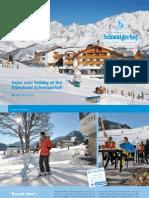 Schwaigerhof winter brochure 2012/13
