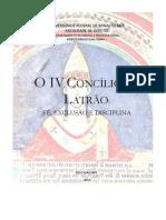 O IV Concílio de Latrão - fé exlusão e disciplina