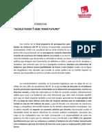 Documento base del acuerdo de IU y PSOE de cara al Pleno de Investidura