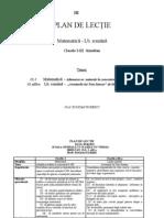 Plan de Lectie Cl. I-III