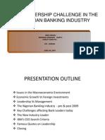 Leadership in Banking Presentation - Idris Yakubu