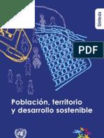 Población, territorio y desarrollo sostenible