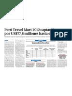 Peru Travel Mart genera 77 millones dolares