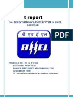 bhel report telecommunication system