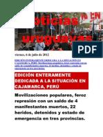 Noticias Uruguayas Viernes 6 de Julio Del 2012