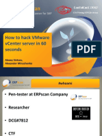 AlexanderMinozhenko_AlexeySintsov. How to Hack VMware vCenter Server in 60 Seconds