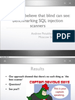 AndrewPetukhov_KarimValiev. You won't believe that blind can see. benchmarking SQL injection scanners