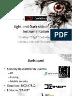DmitriyEvdokimov. Light and Dark Side of Code Instrumentation
