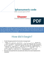 GarethHayes. Non-Alphanumeric JavaScript-PHP and Shared Fuzzing