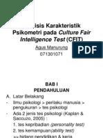 Analisis Karakteristik Psikometri Pada Culture Fair Intelligence Test
