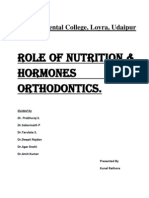 Nutrition in orthodontics