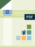 Transfer of Training _exemplar Organizations