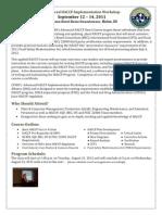 HACCP Workshop Brochure