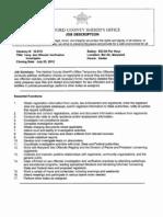 12-S10 Sex Offender Verification Investigator