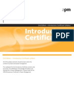 APM Intro Certificate Syllabus 270907