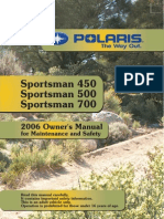 2006 Polaris Sportsman 500 Owners Manual