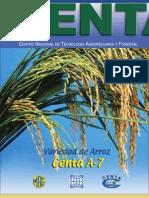 2002. CENTA. Boletín Técnico del Cultivo de Arroz CENTA A-7