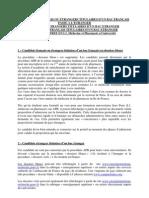 Recapitulatif APB Candidats Etrangers
