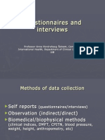 Questionnaires and Interviews.october2009
