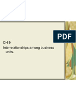 CH 9 Interrelationships Among Business Units