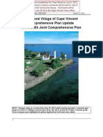Cape Vincent ~ New Draft Joint Comprehensive Plan - Town / Village 7/612