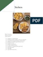 Recipes, Assorted