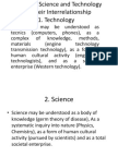 Nature of Science and Technology and Their