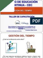 Gestion Del Tiempo - Taller - IAEN - CEC