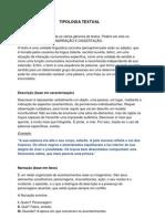 Tipologia Textual - DND