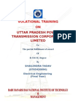 36109419 Summer Training Report on Unnao Sub Station