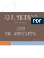 All Things are God's Servants Printable