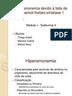 Hiperamonemia devido à falta de carbamoil-fosfato-sintetase 1