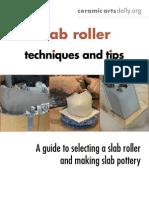 Slab Roller Techniques & Tips