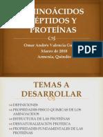 AMINOÁCIDOS PÉPTIDOS Y PROTEÍNAS