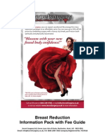 Breast Reduction Information Pack with Fee Guide