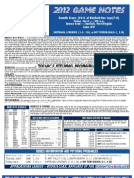 Bluefield Blue Jays Game Notes 7-6