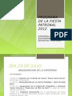 Programa de la Feria de Santiago Cacaloxtepec 2012