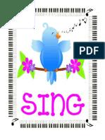 Bird Directional Singing Signs-Large-Nalani