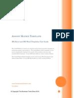 Ansoff Matrix Template User Guide