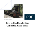 Keys to Good Leadership - Get Off the Blame Train