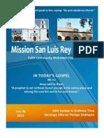 MSLRP Bulletin for 7-08-12