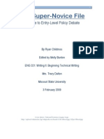 Policy Debate Book