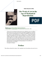 Walter Benjamin - The Work of Art in the Age of Mechanical Reproduction