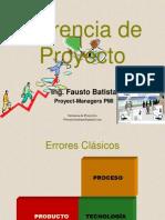 Gegerencia de Proyecto Errores Procesos