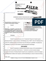 Transitional Investors  LLC V Michael Jackson and MJ/ATV trust, Kath Jackson