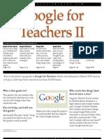 Google for Teachers II