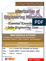 Characterization of Engineering Materials – Essential Knowledge to Solve Engineering Issue